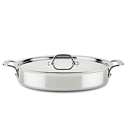 All-Clad D3 Compact 4.5 qt. Stainless Steel Sear & Roast Pan