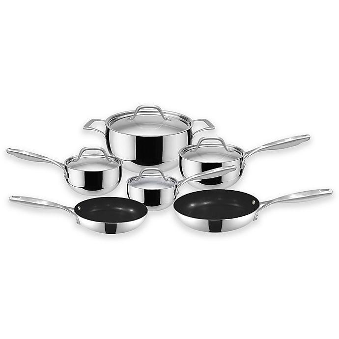 Alternate image 1 for Fleischer & Wolf® Granada Tri-Ply Stainless Steel 10-Piece Cookware Set