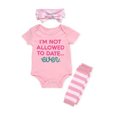 I/'m not allowed to date EVER Cute Gift Baby Bodysuit By Apparel USA™