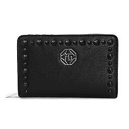 Marina Galanti Studded Wallet in Black