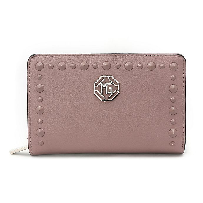 Alternate image 1 for Marina Galanti Studded Wallet in Rose