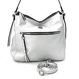 Marina Galanti Ciottoli Hobo Bag in Silver