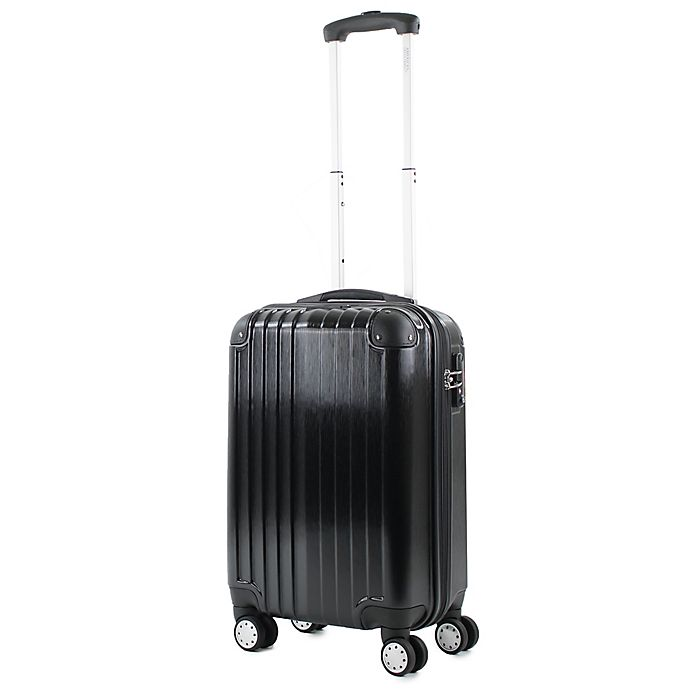 Alternate image 1 for American Green Travel Melrose 20-Inch Hardside Spinner Carry On Luggage in Black