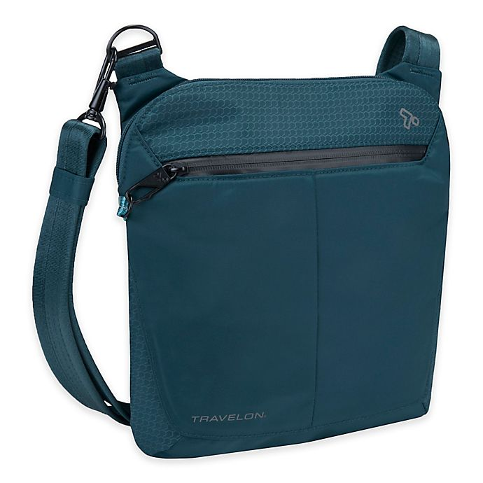 Alternate image 1 for Travelon Anti-theft Active Small Crossbody Bag in Teal