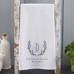 Personalized Farmhouse Floral Tea Towel