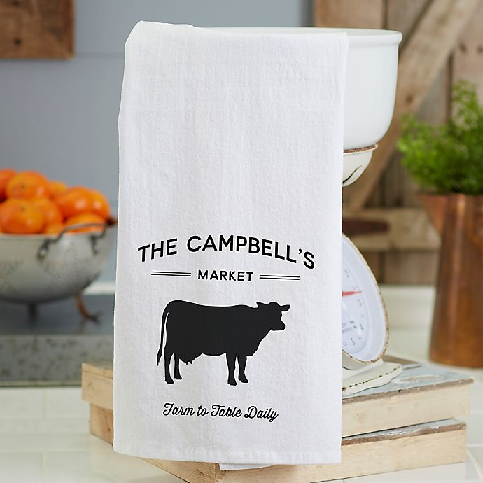 Farmhouse Kitchen Linens: Personalized Farmhouse Kitchen Flour Sack Towel