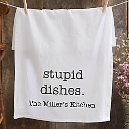 Kitchen Expressions Personalized Flour Sack Towel
