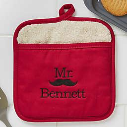 Better Together Mr. Embroidered Pot Mitt