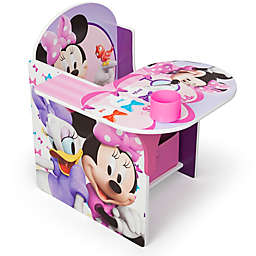 Disney® Minnie Mouse Upholstered Chair with Desk and Storage Bin