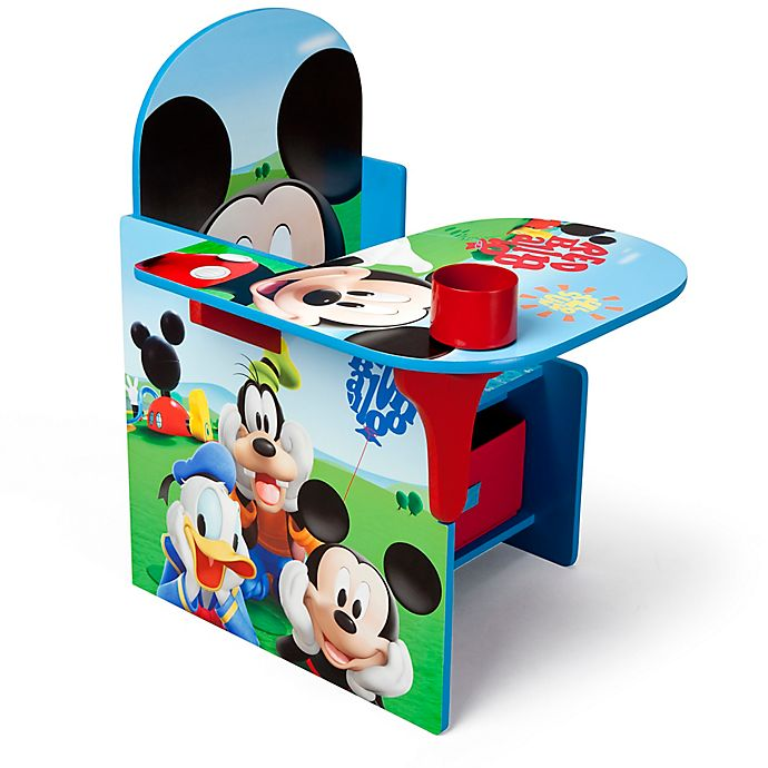 Terrific Disney Mickey Mouse Upholstered Chair With Desk And Storage Pdpeps Interior Chair Design Pdpepsorg