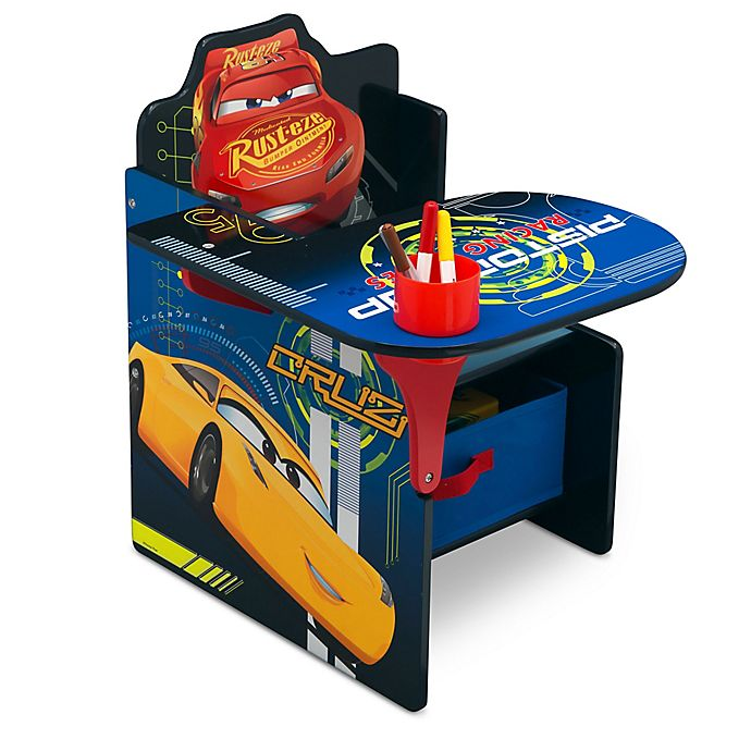 Alternate image 1 for Disney® Pixar Cars Chair with Desk and Storage Bin