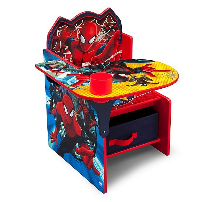 Astonishing Marvel Spider Man Chair Desk With Storage Bin Bed Bath Pdpeps Interior Chair Design Pdpepsorg