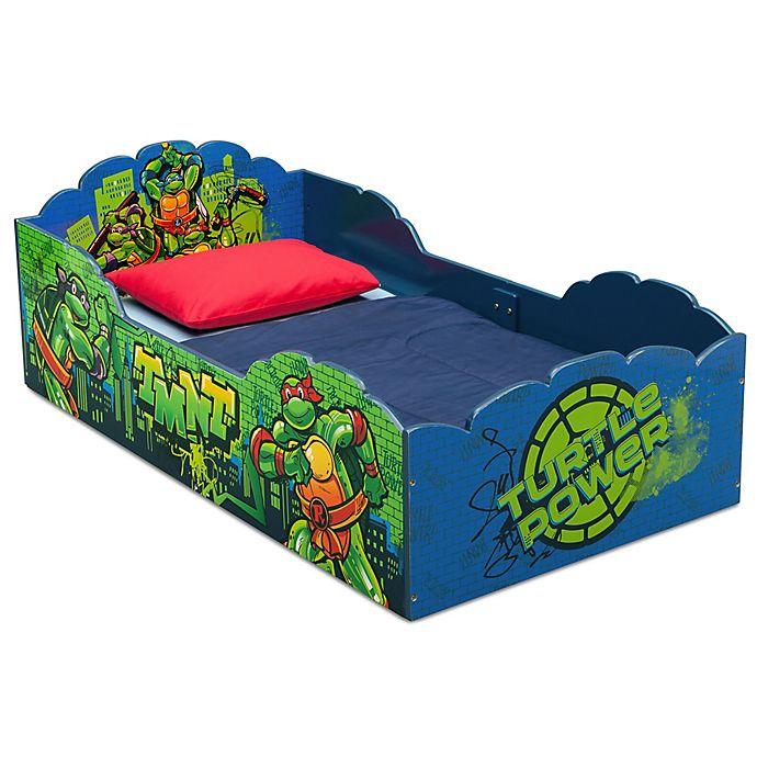 Alternate image 1 for TMNT™ Toddler Bed in Blue