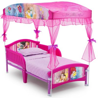 Disney® Princess Canopy Toddler Bed in Pink | buybuy BABY