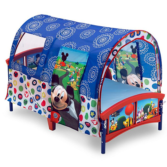 Alternate image 1 for Disney® Mickey Mouse Toddler Bed in Blue