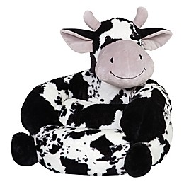 Trend Lab® Plush Cow Children's Chair in Black/White