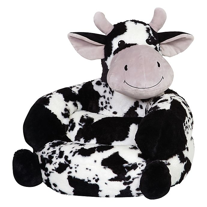 Alternate image 1 for Trend Lab® Plush Cow Children's Chair in Black/White