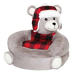 Trend Labs® Plush Plaid Bear Character Chair