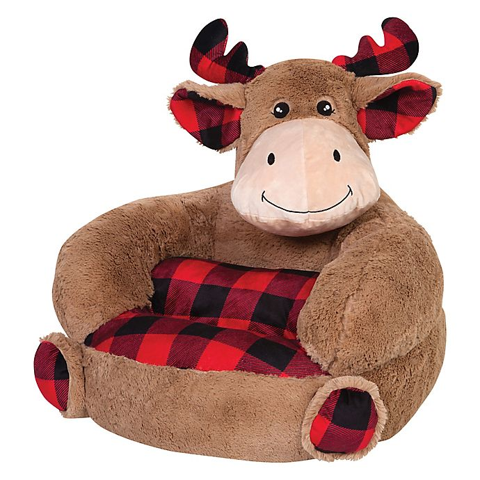 Alternate image 1 for Trend Labs® Plush Plaid Moose Character Chair