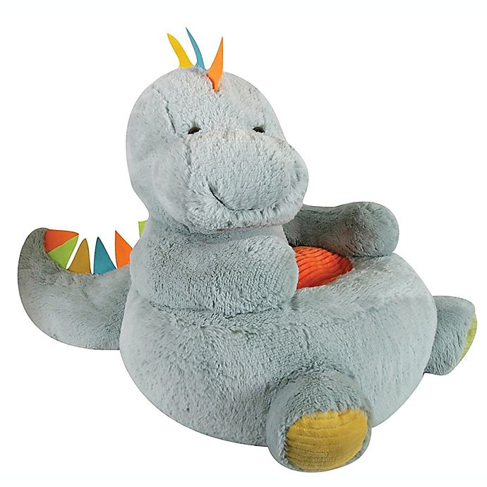 Alternate image 1 for Stephan Baby Dinosaur Plush Chair in Grey
