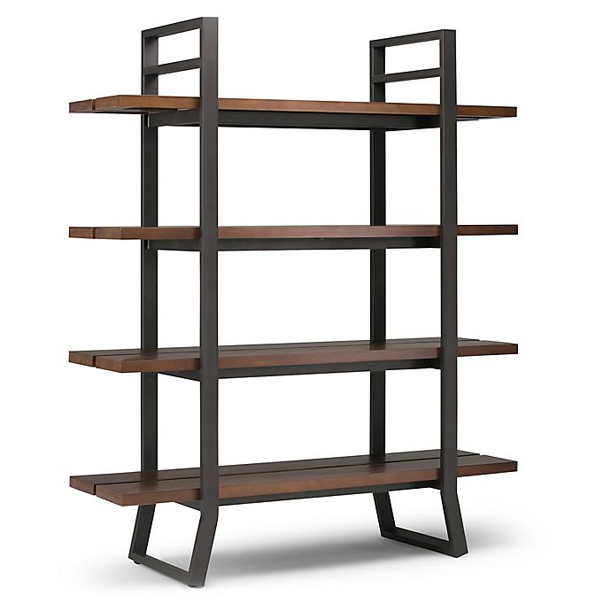 Alternate image 1 for Simpli Home Adler Bookcase in Walnut