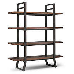Simpli Home Adler Bookcase in Walnut