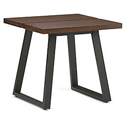 Simpli Home Adler End Table in Walnut