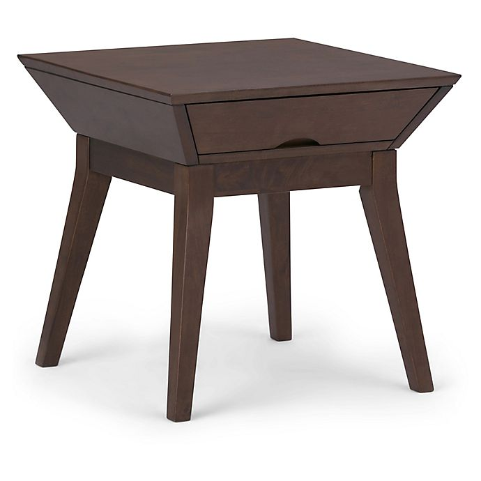 Alternate image 1 for Simpli Home Tessa End Table in Brown