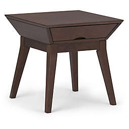 Simpli Home Tessa End Table in Brown