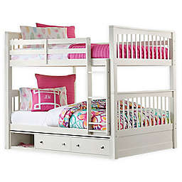 Hillsdale Furniture Pulse Full Over Full Bunk Bed with Storage in White