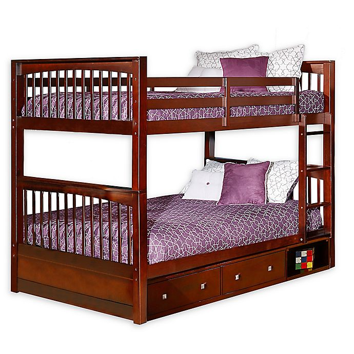 Alternate image 1 for Hillsdale Furniture Pulse Full Over Full Bunk Bed with Storage in Cherry
