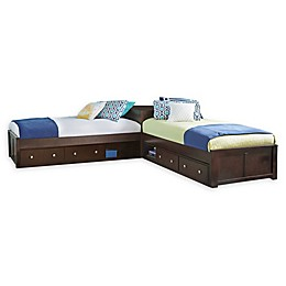 Hillsdale Furniture Pulse Twin L-Shaped Bed with Double Storage