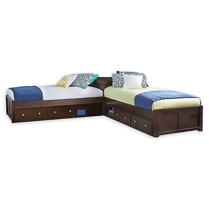 Hillsdale Furniture Pulse Twin L-Shaped Bed with Double ...