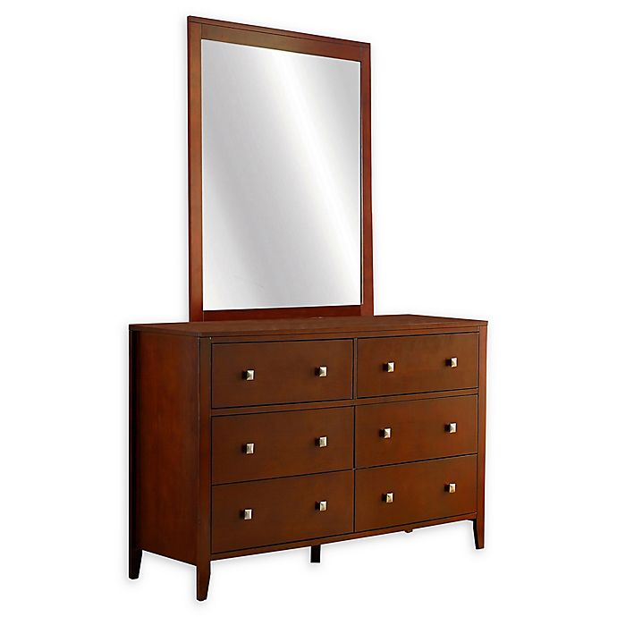Alternate image 1 for Hillsdale Kids and Teen Pulse 6-Drawer Dresser with Mirror