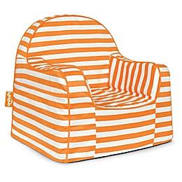 P'kolino Little Reader Stripes Chair in Orange/White