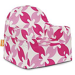 P'kolino Little Reader Leaves Chair in Pink/White