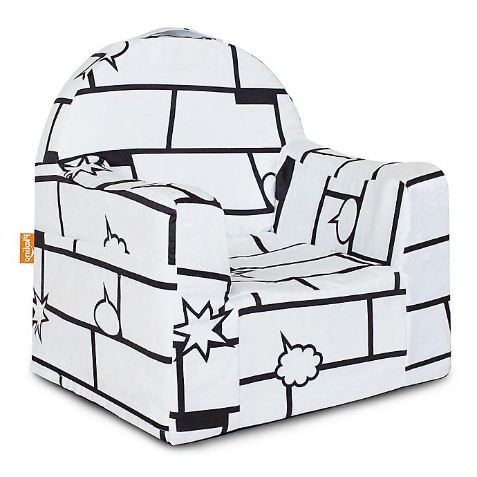 Fantastic Pkolino Little Reader Comic Chair In White Black Buybuy Baby Download Free Architecture Designs Scobabritishbridgeorg