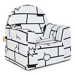 P'kolino Little Reader Comic Chair in White/Black