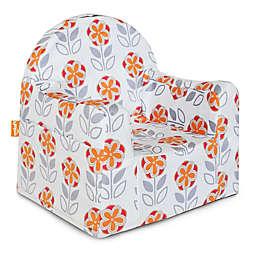P'kolino Little Reader Flower Chair in White/Orange