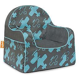 P'kolino Little Reader Planes Chair in Grey/Blue
