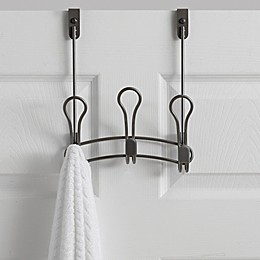 ORG Zenna Over-the-Door 3-Hook Rack in Satin Nickel