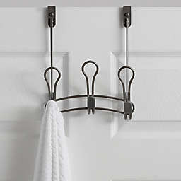 .ORG Zenna Over-the-Door 3-Hook Rack in Satin Nickel