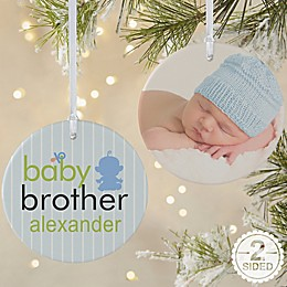 2-Sided Matte Big/Baby Brother & Sister Ornament- Large