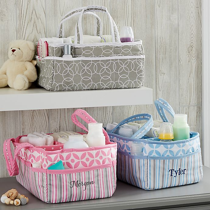 Alternate image 1 for Personalized Embroidered Diaper Caddy