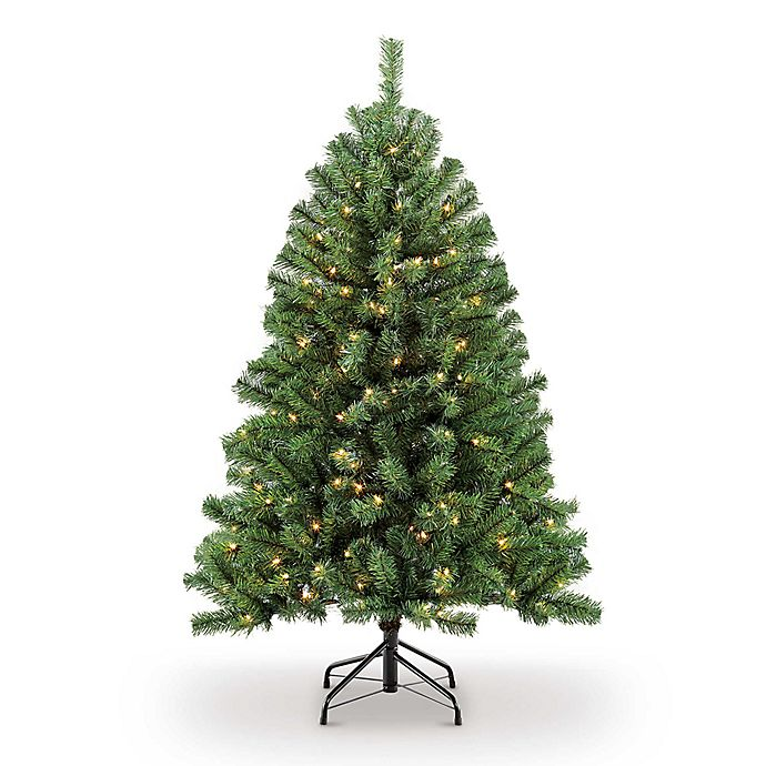 Alternate image 1 for Northern Fir Pre-Lit Artificial Christmas Tree with Clear Lights
