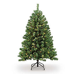 Northern Fir Pre-Lit Artificial Christmas Tree with Clear Lights