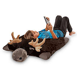 Pillow Pets® Jumboz Oversize Chocolate Moose Plush Toy in Brown
