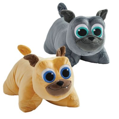 Pillow Pets Puppy Dog Pals 2 Piece Bingo And Rolly Plush Toy Set In Brown Grey Shefinds