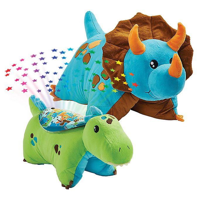 Alternate image 1 for Pillow Pets® 2-Piece Dino Pillow and Dino Sleeptime Lite Set in Blue/Green