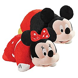 Pillow Pets® 2-Piece Mickey Mouse and Minnie Mouse Stuffed Plush Toy Set in Red